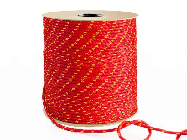 Polypropylénové lano - červené 2