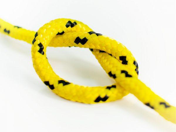 Polypropylénové lano - žlté 2