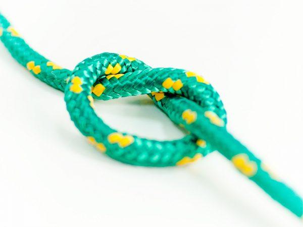 Polypropylénové lano - zelené 3