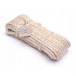 Sisalové lano - rôzne druhy priemerov