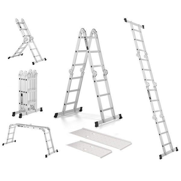 Multifunkčný rebrík 3 v 1, 3,56 m + plošina | MSW-AVL12