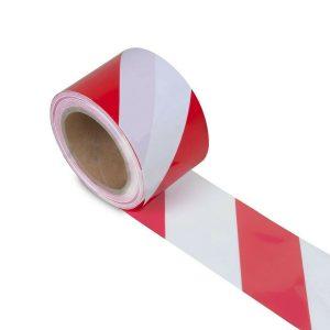 Bezpečnostná páska – Bielo-červená