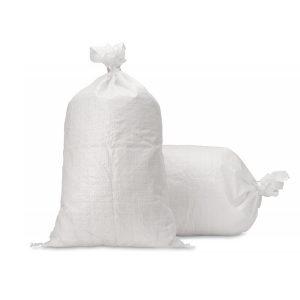 Tkané vrece - 60 x 100 cm - biele