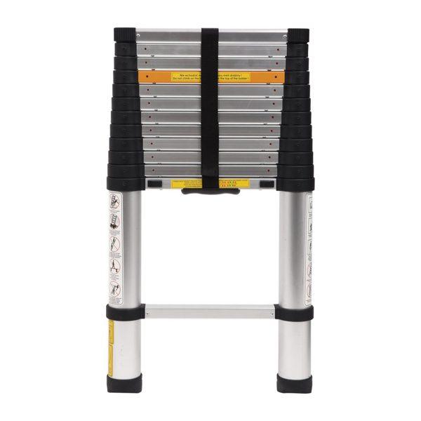 Hliníkový teleskopický rebrík - 3, 8 m - 13 stupňov